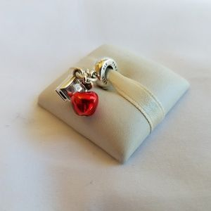 Disney, Snow White's Apple & Heart Dangle Charm